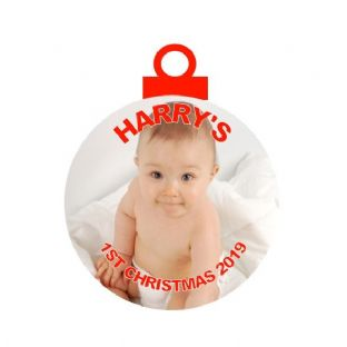 1st Christmas Photo Acrylic Christmas Ornament Decoration